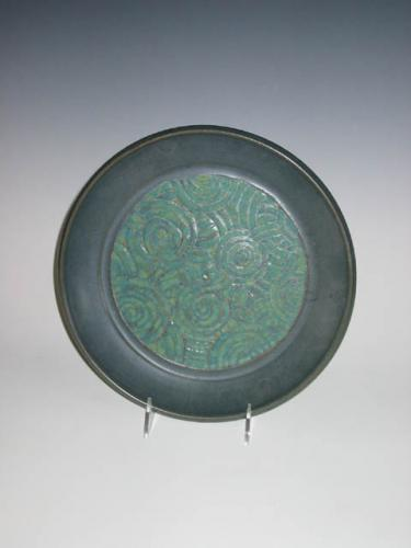 Blue Swirl Plate - Sharon Long Kabbes