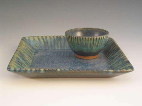 Square Blue Tray Set - Sharon Long Kabbes