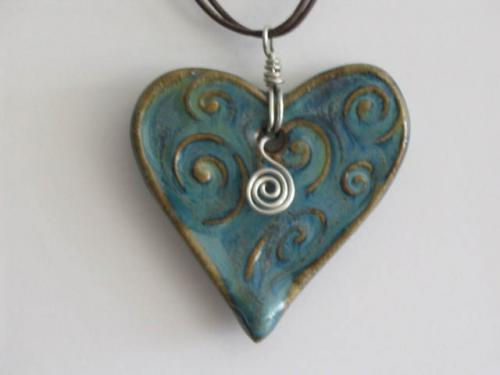 Drop Heart Pendant - Sharon Long Kabbes