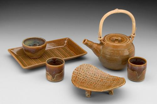 Brown Tea Set - Sharon Long Kabbes