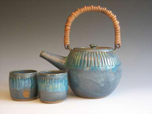 Teapot & Cups - Sharon Long Kabbes