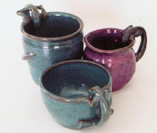 3 Lizard Mugs - Linda LeGendre