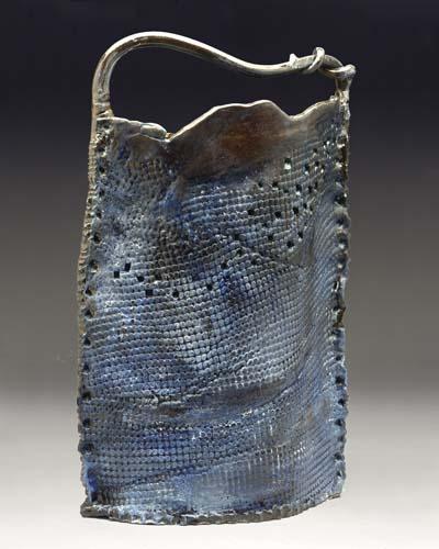 Black Textured Basket - Trina Feldhake